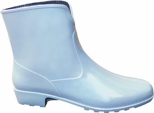 """Damen-Stiefel """"Michaela"""" 2218-0-400-40 - Stivali in PVC con tacco, suola profilata, ingresso ampio, numero 40, colore: Grigio"""