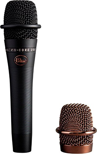 BLUE Encore 200 Studio Grade Phantom Powered Active Dynamic Microphone Black