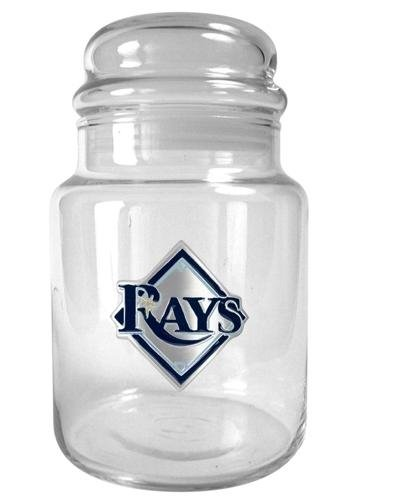 Candy Mlb - MLB Tampa Bay Rays 31-Ounce Glass Candy Jar - Primary Logo
