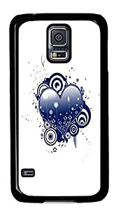 Samsung Galaxy S5 designer covers Abstract Blue Heart Vector PC Black Custom Samsung Galaxy S5 Case Cover