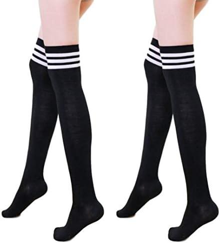 KISSTYLE 靴下 レディース ハイソックス コスプレ 2足セット