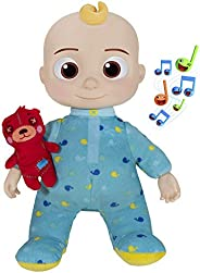 CoComelon Official Musical Bedtime JJ Doll, Soft Plush Body – Press Tummy and JJ sings clips from 'Yes, Yes, B
