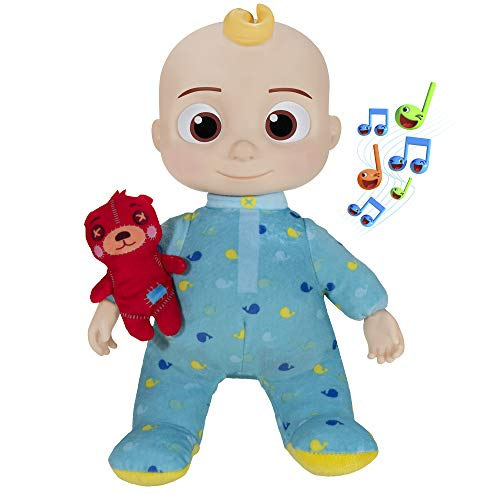 CoComelon Official Musical Bedtime JJ Doll, Soft Plush Body – Press Tummy and JJ sings clips from 'Yes, Yes, Bedtime…