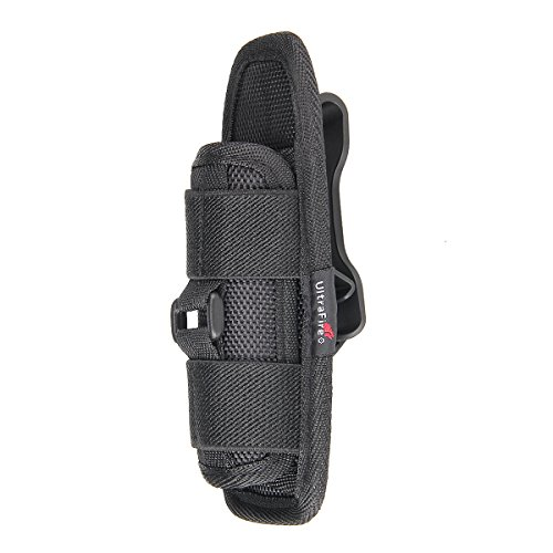 Type Clip Belt (Flashlight Holster Ultrafire Flashlight holder for tactical Torch,nylon duty flashlight holder with 360 Degrees Rotatable Clip Long Type)