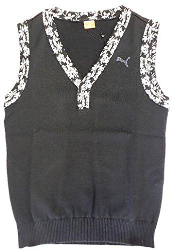 デコレーションニコチン漂流PUMA(プーマ) ゴルフニットベスト メンズ ブラック 923016-01 XOサイズ