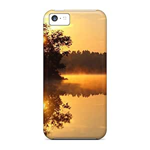 New Premium WRP23595AOqa Cases Covers For Iphone 5c/ Golden Sunrise Protective Cases Covers