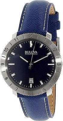 Bulova Accutron II Moonview Blue Leather and Dial ()