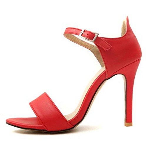 Sandales Mode Femmes Fete Talons Hauts JOJONUNU Red 6XqZCf5