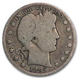 1895 Barber Half Dollar AG Half Dollar About Good