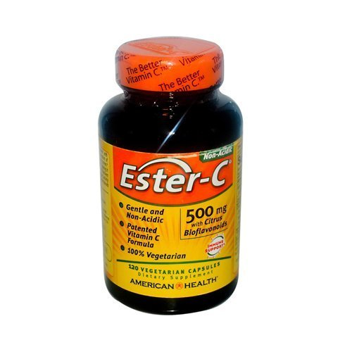 AMERICAN HEALTH ESTER-C 500 W/CIT BIO VEG, 120 CAP