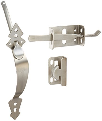NATIONAL/SPECTRUM BRANDS HHI N348-508 Stainless Steel Ornament Gate Latch by NATIONAL/SPECTRUM BRANDS HHI
