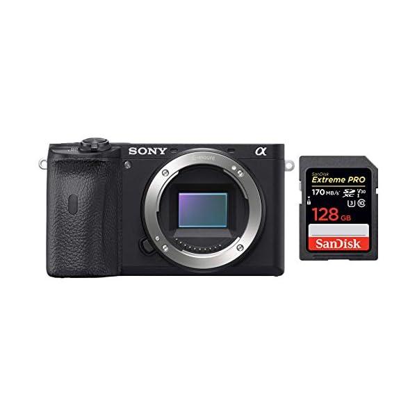 RetinaPix Sony Alpha ILCE-6600 24.2 MP Mirrorless Digital SLR Camera Body only + SanDisk 128GB Extreme Pro SDXC UHS-I Card - C10, U3, V30, 4K UHD, SD Card