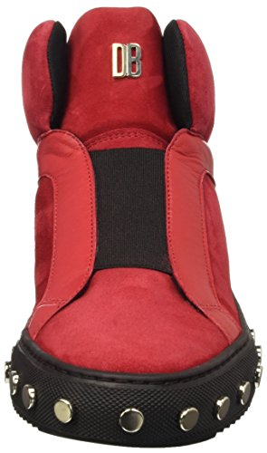 Bikkembergs Doll-er Db 796 Mid Shoe W Suede/Leather, Zapatillas Altas para Mujer Rojo