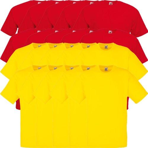 Multicolore Red Sunflower Weight Rotondo F140 T Loom Pack 10er Original T Value The 5 shirt Collo Fruit Of 15 10x 20 qARxwTwH