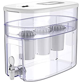 pH RECHARGE 3F Alkaline Water Filter Ionizer - Countertop Water Filter System - Large Alkaline Water Pitcher - High pH Ionized Water, 2.6 Gallon, 12.5 Litre (White)