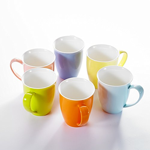 Panbado KT052 6 Piece Ceramic Coffee Mugs and Tea Cups for for Gift or Daily Use, 4.75