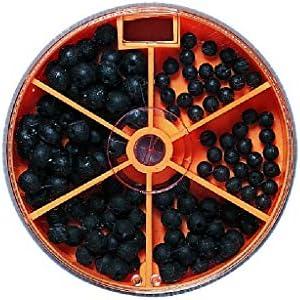 Set: ca 110 Premium Gummiperlen Sortiert Rubber Beads in Spender-Dose