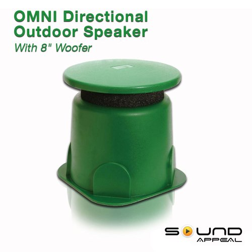 Omni 360 degree Outdoor 8.0 speaker (GREEN) by Sound Appeal (1pc)