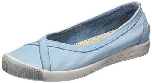 Softinos Ilma Smooth, Ballerine Donna Blau (Pastel Blue)
