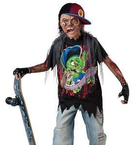 [LanLan Kids Zombie Skater Boys Scary Halloween Costume] (Kid Zombie Costumes Ideas)