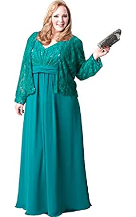 Amazon.com: Newdeve Sheath Red Lace Turquoise Green Maxi