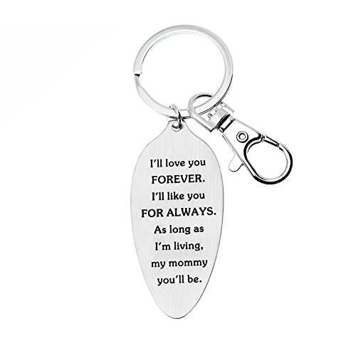 Ms. Clover Family Birthstones for Mom, I'll love you forever Keychain, Mothers Day, Gifts for Grandma - Mother of the Bride Gift