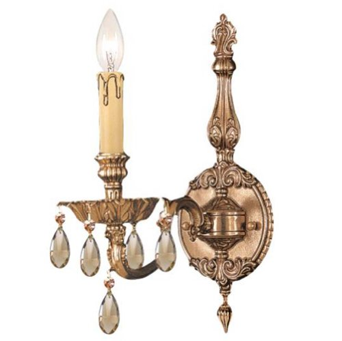 Sconce Novello Light 1 (Crystorama 2501-OB-GT-MWP Crystal Accents One Light Sconces from Novella collection in Brassfinish, 8.50 inches)