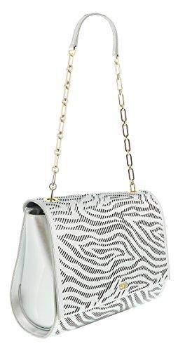 Class Roberto Cavalli Audrey Silver Medium Shoulder Bag for Womens