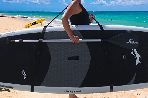 Own the Wave SUP Carry Strap - Easy to Carry Adjustable Triple-Padded Shoulder Strap - SUP Paddleboard Carry - Triple Board Bag