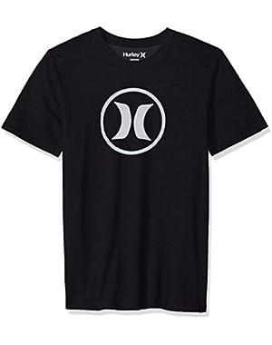 Men's Dri-Fit Short Sleeve Circle Icon Logo Tee Shirt