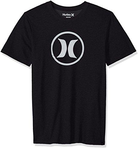 (Hurley Men's Nike Dri-Fit Premium Short Sleeve Tshirt, Black)
