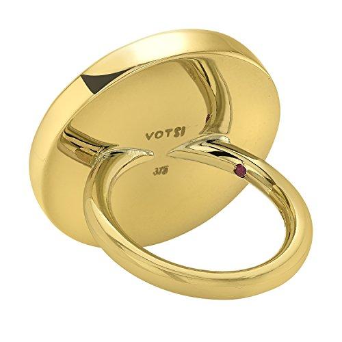 ELENA VOTSI femme  9carats (375/1000)  Or jaune|#Gold Rond   Rouge Synthetischer Rubin