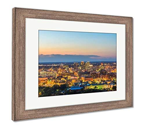(Ashley Framed Prints Birmingham, Alabama, USA, Wall Art Home Decoration, Color, 26x30 (Frame Size), Rustic Barn Wood Frame, AG32675324)