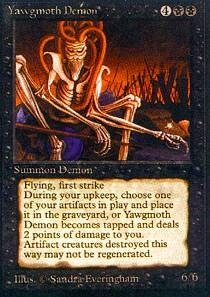 Magic: the Gathering - Yawgmoth Demon - Antiquities