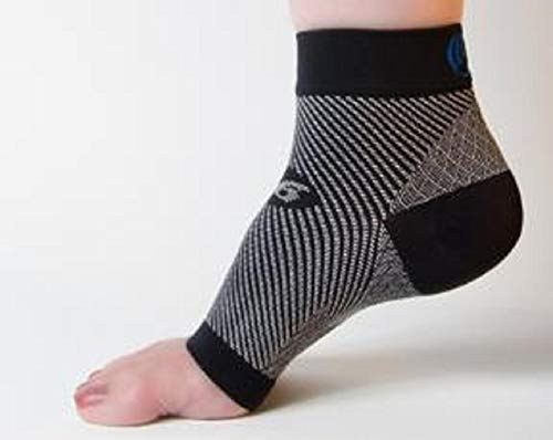 OrthoSleeve FS6 Compression Foot Sleeve (Pair), Black, Small