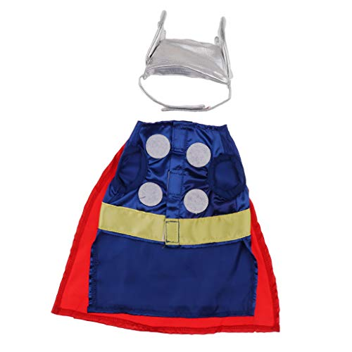 Flameer Dogs Costume Ball Halloween Party Mighty Thor Outfit Funny Dog Costumes - S -