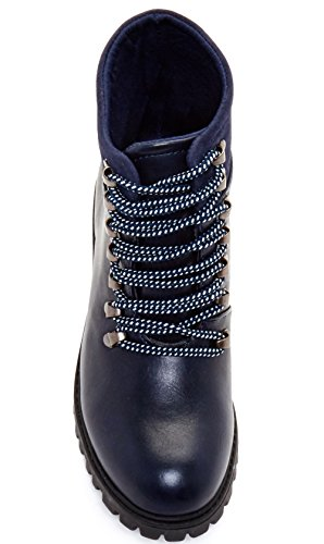 Carrini Ca Collection Mujeres Fashion Faux Suede Cuff Botas Deep Blue