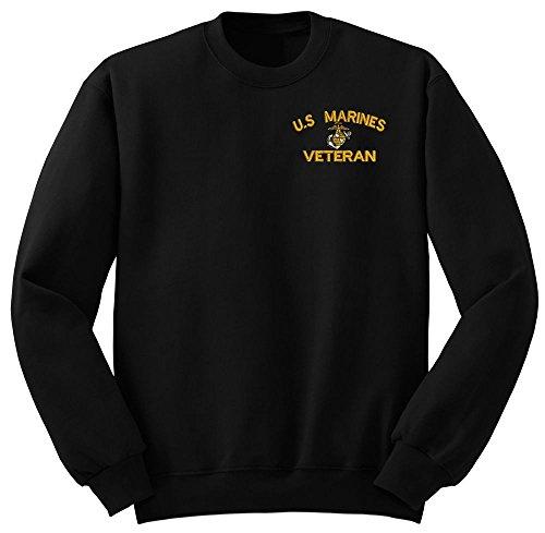 (Marine USMC U.S.Marines Veteran Military Crew Neck Sweatshirt X-Large)
