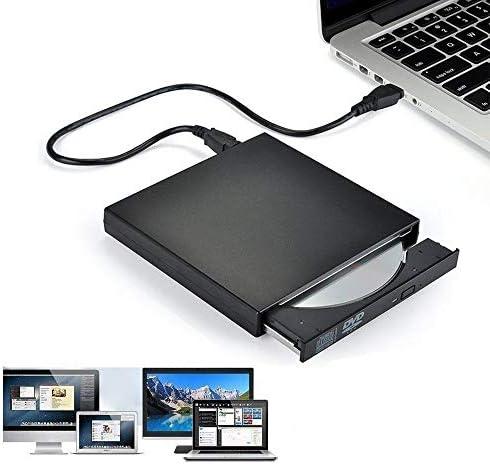 DVDドライブ スリム外付け光学ドライブUSB 2.0 DVDコンボDVD-ROMプレーヤーCD-RWバーナーライタープラグプレイ YYFJP