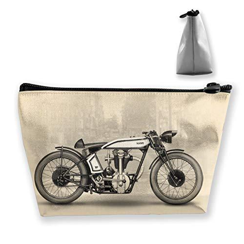 (customgogo Women's Motorcycles Travel Makeup Bags, Portable Toiletry Bag Cosmetic Makeup Organizer)