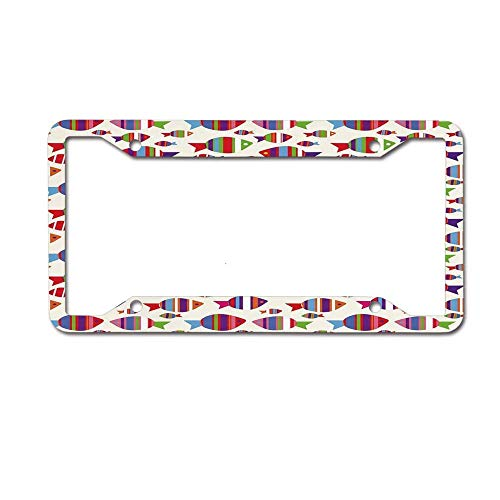 Headwind GR Black License Plate Frame Love Metal Car License Plate Auto Tag 12 x 6 inch War Dance Ritual Against Ancient Totem Poly Effect