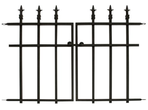 Panacea Products Classic Finial Gate, Black (Patio Gates Fences)