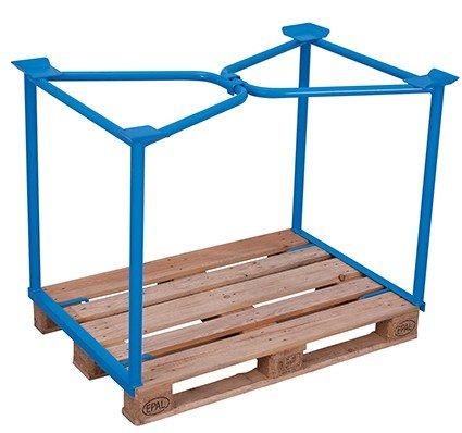 Palettenaufsatz Typ 65 Traglast (kg)  1500 Ladefläche  1125 x 800 mm RAL 5012 Lichtblau