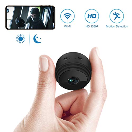 Spy Camera Wireless Hidden WiFi Camera,Mini Spy Camera HD 1080P Wireless Security Camera for Home Nanny Cam with Night Vision Motion Detection, Built-in Magnetic Fit Indoor Outdoor Recording