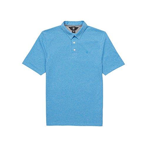 Volcom Big Boys Wowzer Modern Fit Cotton Polo, Free Blue, Extra Large