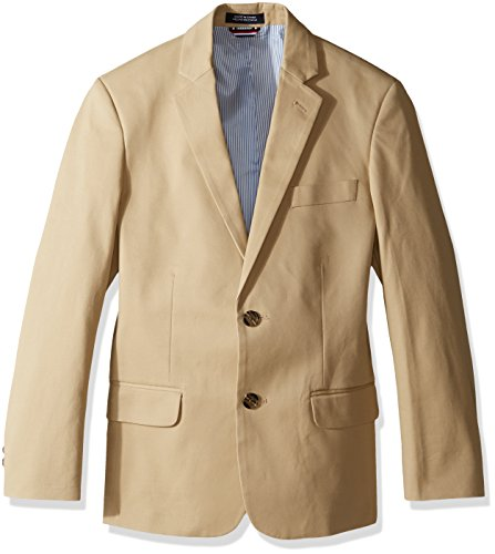 Tommy Hilfiger Boys' Big Twill Blazer Jacket, Medium Khaki, 20 ()