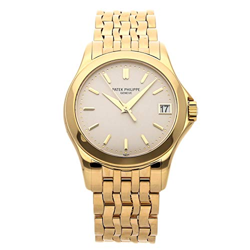 Patek Philippe Gold Dial - Patek Philippe Calatrava Mechanical (Automatic) White Dial Mens Watch 5107/1J-001 (Certified Pre-Owned)
