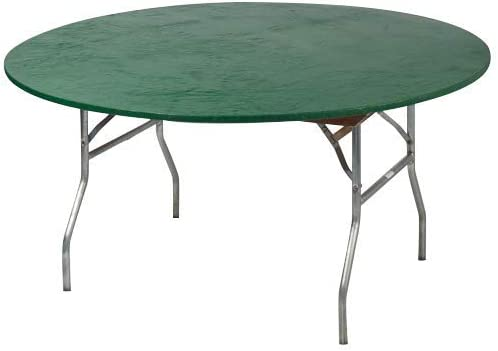 Kwik-Covers 48 Round Fitted Plastic Table Covers, Bundle of 5 Hunter Green