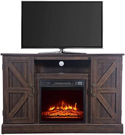 Binrrio Fireplace TV Stand