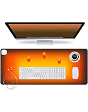 """Warm Desk Pad,3 Speeds Touch Control Warm Big Mouse Pad,Desk Protector, 31.5"""" x 13"""" Extended Edition Gaming Mouse Mat,Table Warm Pad,Foot Warmer Pad(Black)"""